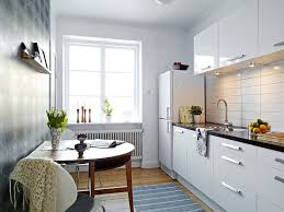 Modern White Kitchen Designs Picture Of Modern White Kitchen Design For Small Apartment