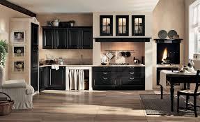Kitchen Interior Black And Cream Gaia Classic Kitchen Interior Stylehomesnet