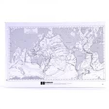 Hubbard Scientific Physiographic Chart Of The Seafloor 437 Seafloor Physiography Charts