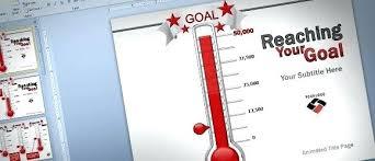 Fundraising Progress Chart Animated Goal Chart Template For Fundraising Progress