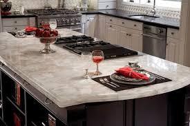 White Quartz Kitchen Island Contemporary Kitchen New York