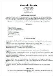 Bunch Ideas Of Resume Front End Loader Operator Heavy Equipment
