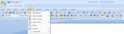microsoft word menus classic style menus and toolbars for microsoft word