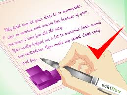 how to write a thank you note to a teacher sample notes
