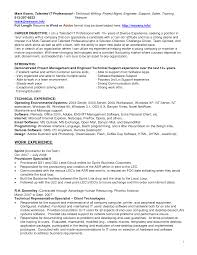 Technical Support Resume Objective Examples Lovely Technical