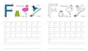 Tracing worksheet for letter F — Stock Vector © Anna_Mikhailova ...