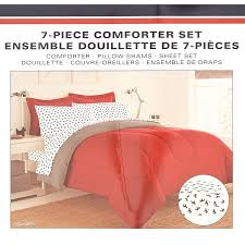 red grey reversible solid 5 piece twin xl comforter set