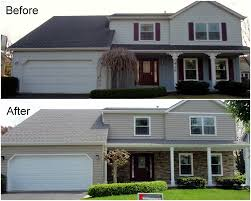 siding replacement featuring versetta stone