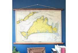 Marthas Vineyard Massachusetts Vintage Nautical Chart Scroll Style