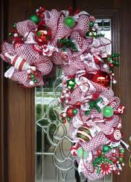 Candy Cane Wreath  Christmas  Pinterest  Candy Cane Wreath Candy Cane Wreath Christmas Craft