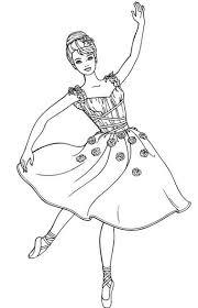 Disegno Di Barbie Kristyn Da Stampare Gratis Ballerina Da Colorare