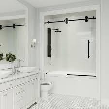 x 66 in frameless sliding tub door