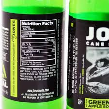 Green Apple Nutrition Chart 12 Pack Of Jones Green Apple Cane Sugar Soda