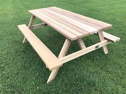 6 deluxe picnic table with seats cedar patio round plans