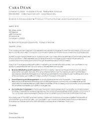 Sample Social Media Cover Letter Marketing Sample Cover Letter Brand