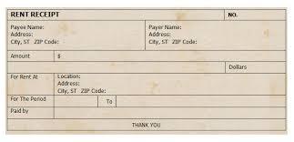 Make Receipts Free Free Rent Receipt 25