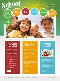 Kids School Website Template Template 35470 School Children Html5 Website Template