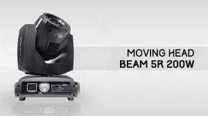 Moving Head Beam <b>5R 200W</b> - Star Lighting Division - YouTube