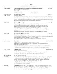 ... Free Examples McCombs Resume Template Best 10 Download Word
