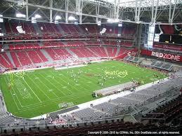 Cardinals Football Seating Chart University Of Phoenix Stadium Seating Chart