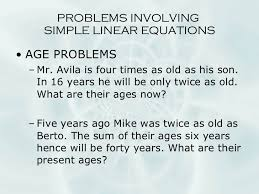 linear equations word problems math worksheets go them and try to solve