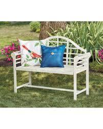 garden benches metal. Perfect Benches Wilson U0026 Fisher White Jasmine Metal Garden Bench For Benches