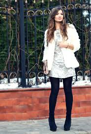 pretty fur coat outfit idea for young women