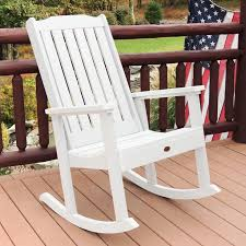 highwood lehigh recycled plastic rocking chair from hayneedle com