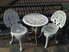 white iron garden furniture. exellent garden table 2 chairs white cast iron outdoor setting  ebay with garden furniture n