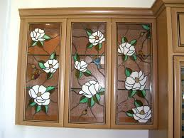 stained glass cabinet inserts hummingbirds by sans soucie