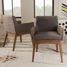 baxton studio nexus gray fabric upholstered dining chairs set of 2
