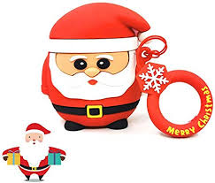 3D Cartoon Airpod <b>Case with</b> Buckle <b>Christmas</b> Silicone ...