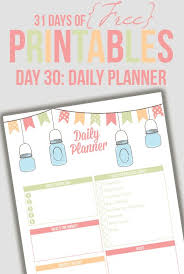 Daily Planner Printout Free Printables And Planning Resources For Busy Moms The Confident Mom