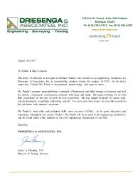 Driesenga Recommendation Letter