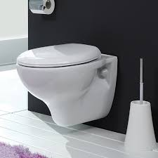 Round White Ceramic Wall Mount Toilet