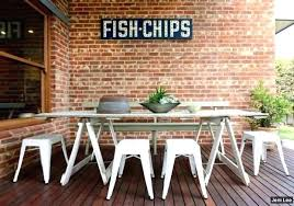 industrial style outdoor furniture. Industrial Outdoor Table Style Furniture Area Brick O