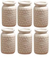 Decorative Milk Bottles Amazon Circleware Marble Mist White Ceramic Honey Bee Milk 87