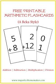 Math Templates Printable Math Flash Cards Addition Free Printable Arithmetic