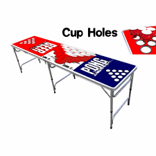 Party Pong 8-Foot Professional Beer Table w/ Cup Holes - Edition