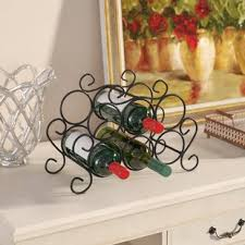 Wine rack table Circular Siebert Bottle Tabletop Wine Rack Wayfair Side Table With Wine Rack Wayfair