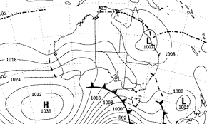 Isobar Chart 10 Synoptic Charts And Isolines Weather Or Not Flashcards