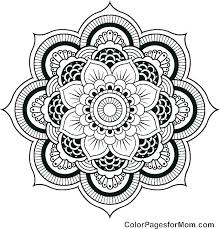 Mandala Coloring Pages Adults Abstract For Color With Free Elephant