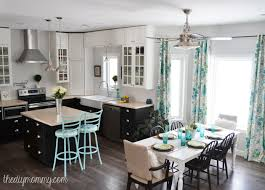 Turquoise Kitchen A Black White And Turquoise Diy Kitchen Design With Ikea Cabinets