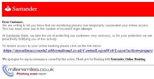 santander bank jobs santander bank alert online banking error santander bank phishing