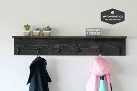 rustic coat rack shelf wall coat rack