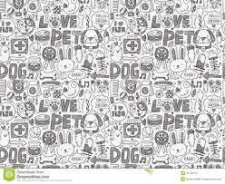 seamless-doodle-pet-<b>pattern</b>-<b>cartoon</b>-vector-illustration-41242152 ...