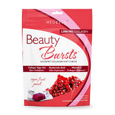 amazon neocell beauty bursts collagen soft chews 2 000mg collagen types 1 3 super fruit punch flavor 60 count health personal care