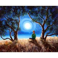original yoga painting omwoman yoga meditate. Fox Spirit Meditation Original Painting Yoga Omwoman Meditate