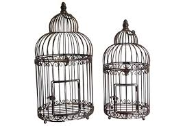 a set of 2 bird cages decorative in
