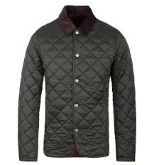 Barbour Drill Olive Classic Quilted Jacket &  Adamdwight.com